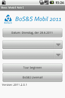 Screenshot of BoS&S@Live Mobil 2012