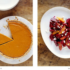 Pumpkin Tart with Toasted Nut Crust