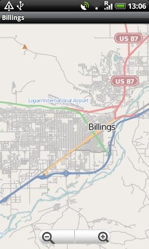 Billings Montana Street Map