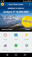 Screenshot of SA Lotto & Powerball Results