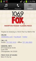 Screenshot of 106.9 The Fox