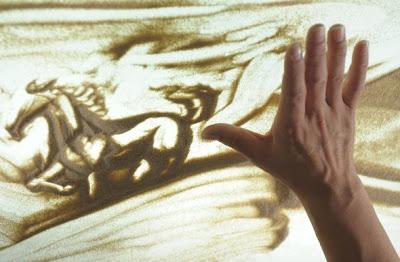 Hoi Chiu's Horse sand painting