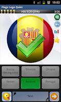 Screenshot of Quiz Flags