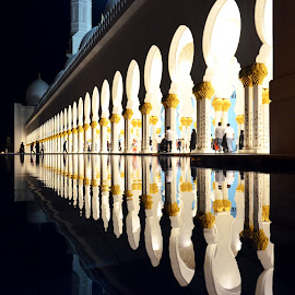 The Water Reflection by Loyal Veigas 'Loy' - Buildings & Architecture Statues & Monuments ( water, reflection, mosque,  )