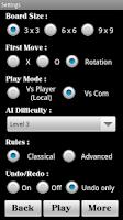 Screenshot of Tic-Tac-Toe Free