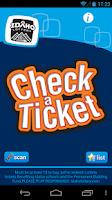 Screenshot of Check-a-Ticket