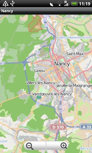 Nancy Street Map