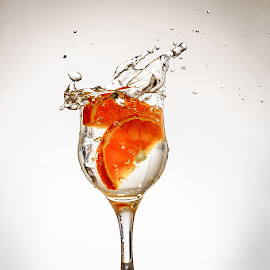 With Orange by Hurghis Vasile - Food & Drink Alcohol & Drinks ( gin orange drink food alcohol people life live travel exploration colors )