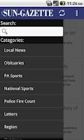 Screenshot of Williamsport Sun-Gazette