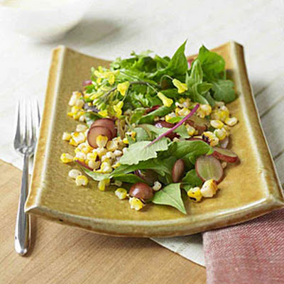 Mexican Roasted Corn Salad With Buttermilk Dressing