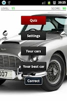 Screenshot of Cars quiz
