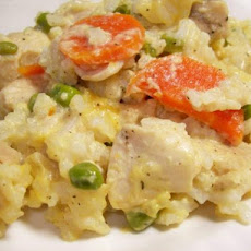 Ez Creamy Chicken & Rice With Vegetables