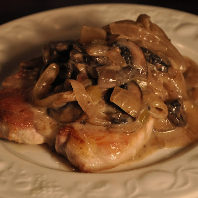 Pork Chops with Mushrooms and Port