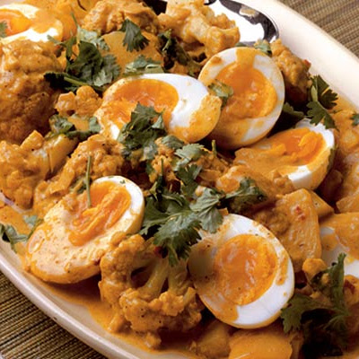 Cauliflower, Egg & Potato Curry