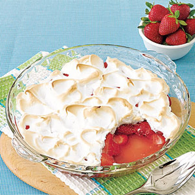 Strawberry Meringue Gratin