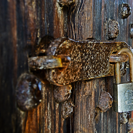 Lock the Door! by Jill Beim - Buildings & Architecture Architectural Detail ( fort pulaski, latch, lock, buildings, door, architectural detail, historical, architecture,  )