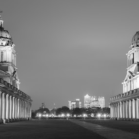 Greenwich  by Mark Richard Day - City,  Street & Park  Historic Districts ( history, naval, london, black and white, colledge, buildings, greenwich, the city )