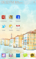 Screenshot of Venice Atom theme (free)