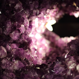 Amythest Geode by Darlene Wuenschel - Nature Up Close Rock & Stone ( rocks, amythest )