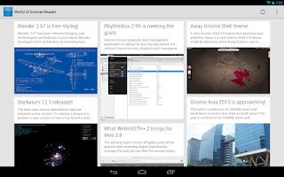 Screenshot of World of Gnome Reader