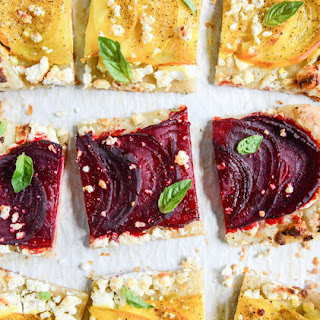 Beet, Goat Cheese and Honey Tarts