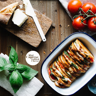 Mini Caprese Grilled Cheese Sandwich