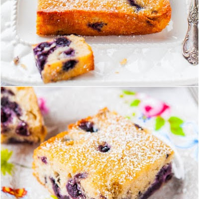Blueberry Lemon Cake with Lemon Glaze