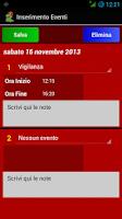 Screenshot of Turnario Vigili del Fuoco
