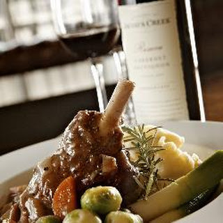 Slow cooked Cumbrian saltmarsh lamb shank