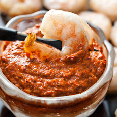 Roasted Shrimp with Romesco Sauce