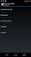 Screenshot of Suivi par Droïd (suivi colis)