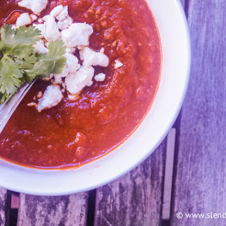 Rustic Tomato & Roasted Red Pepper Soup