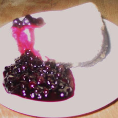Lemon Swirl Cheesecake With Wild Blueberry Sauce
