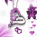 Purple Butterfly Love Live Wal icon