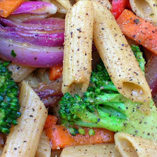 Penne With Ginger Garlic & Vegetables