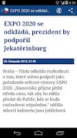 Screenshot of České Zpravodajství