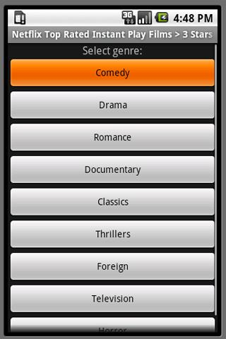 netflix-top-rated-movies for android screenshot