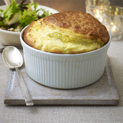 Cheeseboard Soufflé & Seasonal Salad