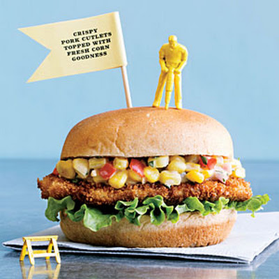 Indiana Pork Tenderloin Sandwiches with Creamy Corn Relish