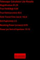 Screenshot of Telescope Calculator Lite