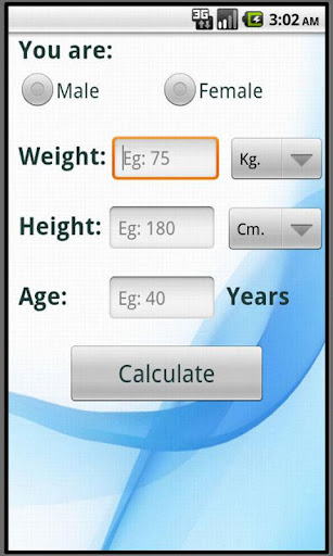 Calculate ideal weight BMI