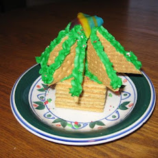 Graham Cracker Christmas Tree Decoration