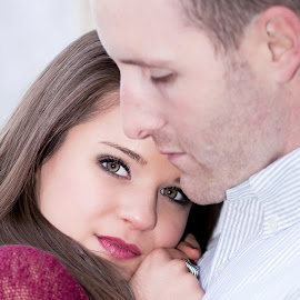 Keep Me Warm  by Sabrina Causey - People Couples ( love, engaged, warmth, engagement, eyes, couples,  )