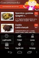 Screenshot of Gasztromankó mobil receptek