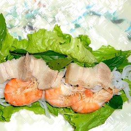Fresh Spring Roll by Nguyen Trong - Food & Drink Cooking & Baking ( fresh spring roll, shrimp, pork, meat, vegetables, vietnamese )