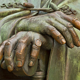 Hands of Wisdom by Nicolas Raymond - Buildings & Architecture Statues & Monuments ( pose posing, still life, study, vibrant, yellow, historic, colour, americana, washington, colourful, anatomy, metal, still-life, dc, ring, orange, memorial, colors, anatomical, robe, somadjinn, colours, sculpture, roosevelt, statue, sculpted, sitting, fingers, golden, america, colorful, states, franklin, object, fdr, usa, nicolas raymond, anatomic, hands, american, hands of wisdom, monument, metallic, gold, closeup, united, hdr, district of columbia, green, close up, close-up, delano, bronze, history, sit, chair, color, vibrance, washington dc, historical,  )