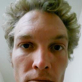 by Forrest Covin - People Portraits of Men ( selfie, macro, camera shot of face selfie, pocket camera selfie face shot, portrait, face portrait )