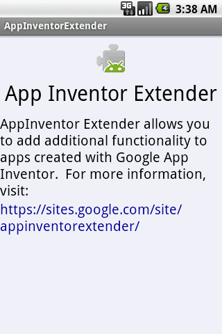 AppInventor Extender