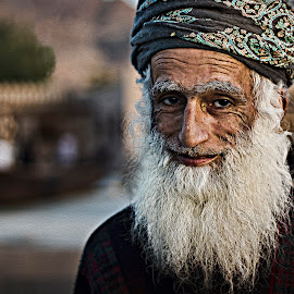 Handsome Old Man by Rid Morat - People Portraits of Men