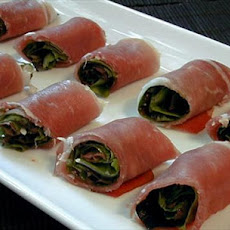 Prosciutto-wrapped Greens